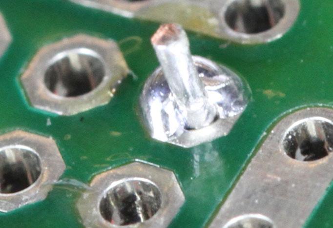 insufficient wetting pin