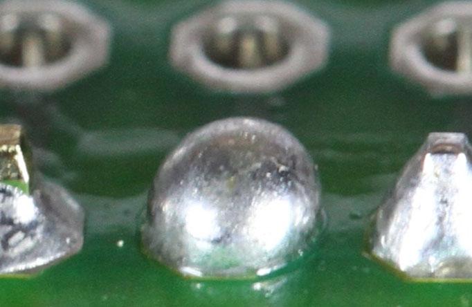 two much solder
